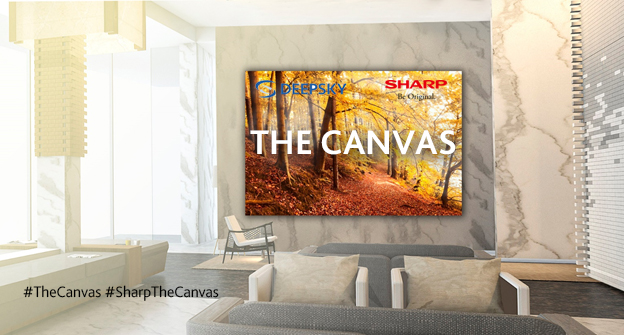 Sharp The Canvas – First Look of the massive modular screen which can be installed curved or in a flat orientation
